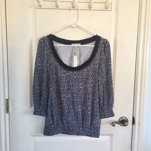 (NWT) Lucca Couture | Blue Floral Long Sleeve Top